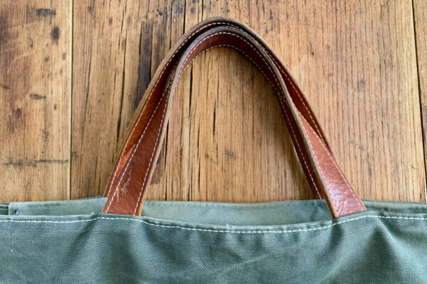 Adding Leather Accents Sewn Bag Handles