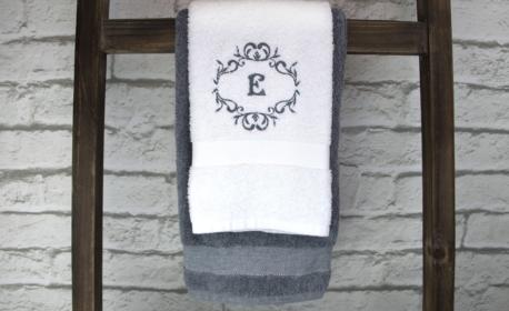 DIY Monogrammed towels tutorial