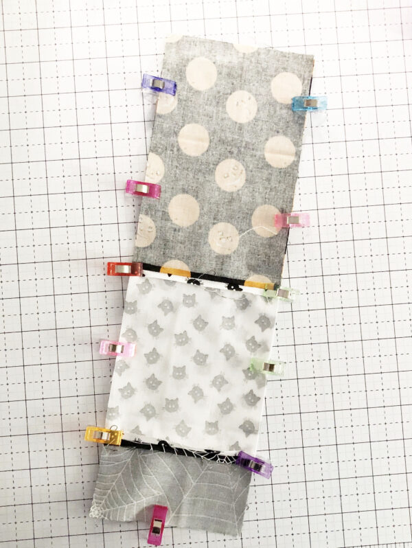 Halloween Mini Treat Bag: Sewing the front and back together