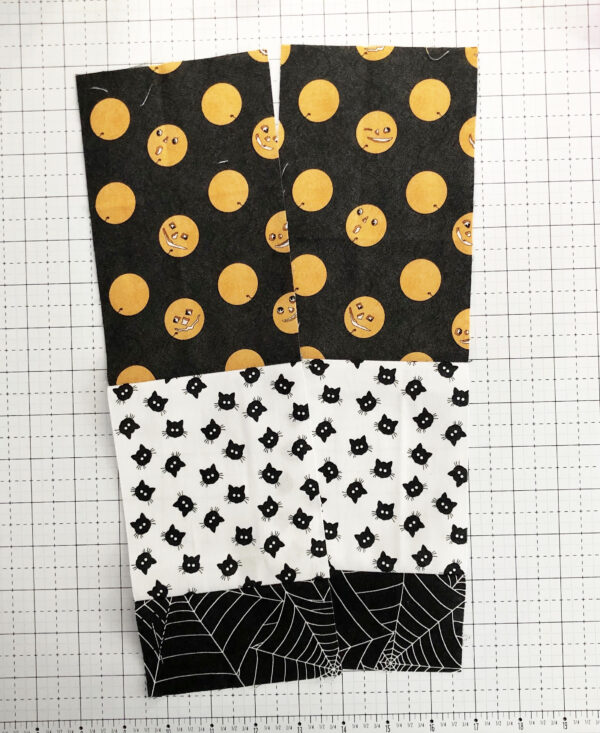 Halloween Mini Treat Bag: Sewing the lining to the exterior fabric