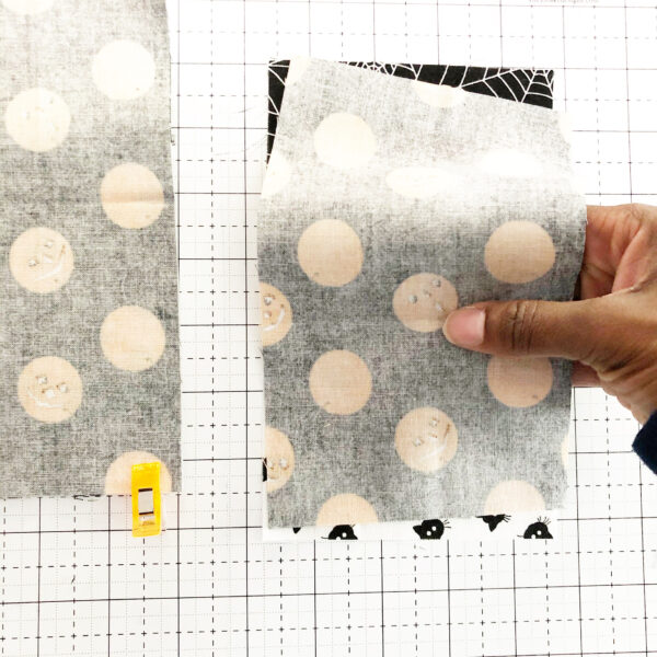 Halloween Mini Treat Bag: Sew the lining to the exterior fabric
