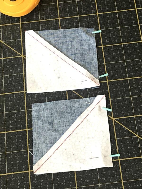 Stardust Quilt-along - Arrange the blocks into a pinwheel unit