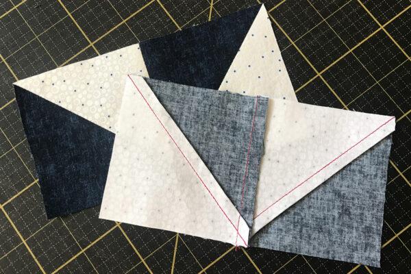 Stardust Quilt-along - seam allowances nest through the fabric