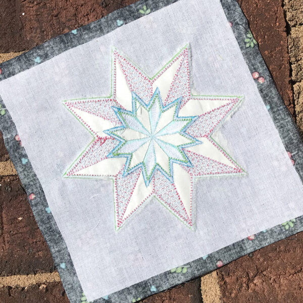 Embroidered Quilt Block with OESD Stabilizer
