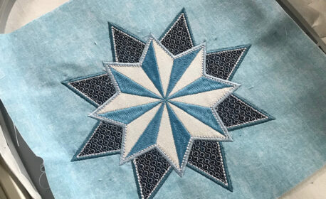 Stardust Quilt-along Embroidery and Stabilizer
