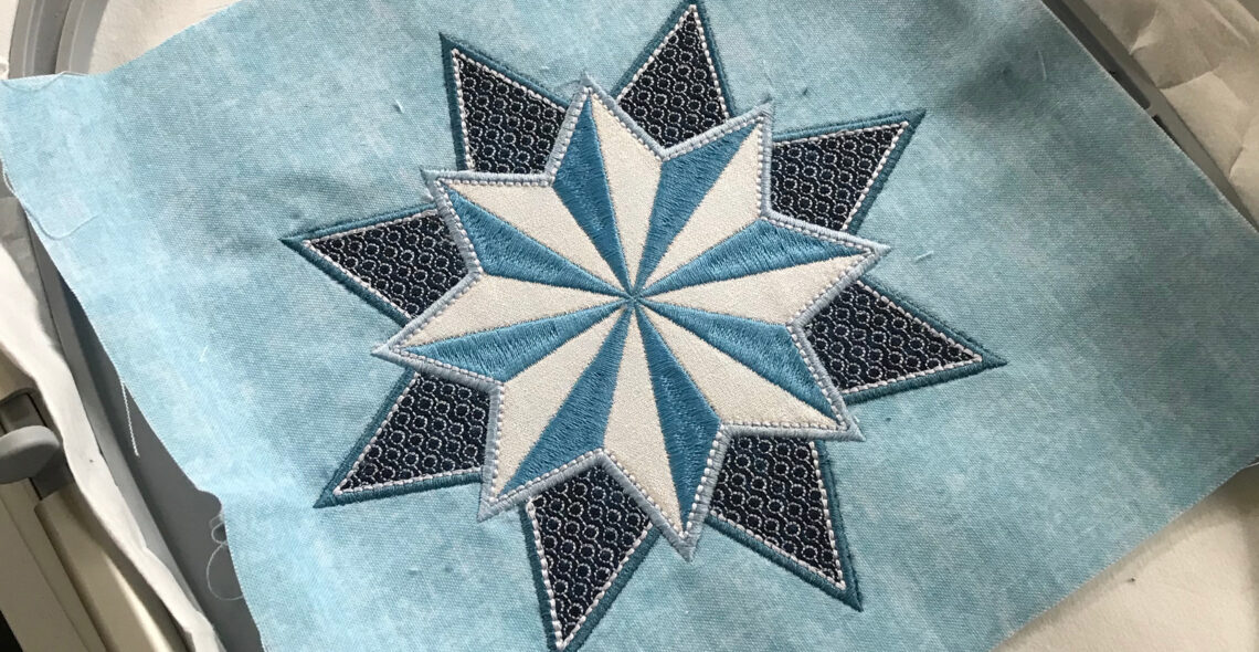 Stardust Quilt-along Embroidery and Stabilizers