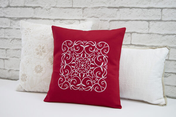 Wrought Iron Embroidered Pillow