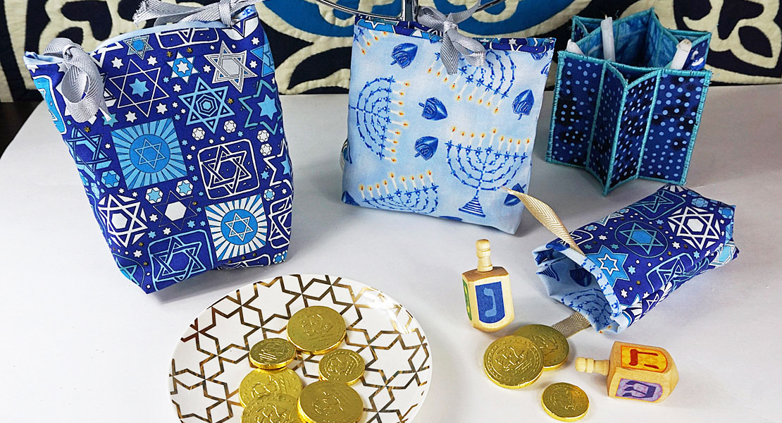 quick and easy chanukah gift bags
