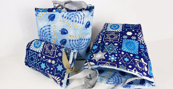 quick and easy chanukah gift bag