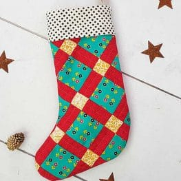 Christmas Stocking Tutorial from WeAllSew