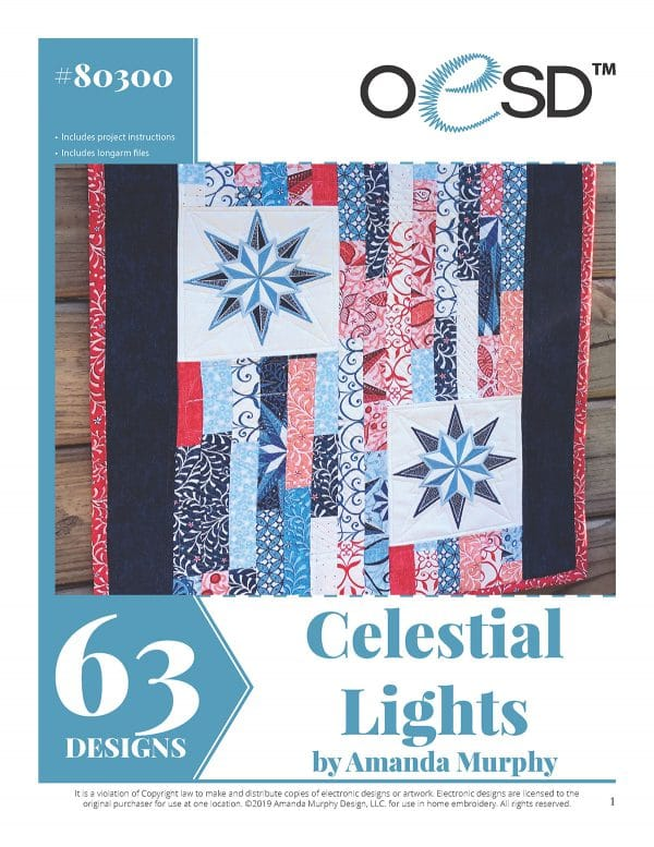 The Celestial Lights Embroidery Collection is available exclusively from BERNINA dealers