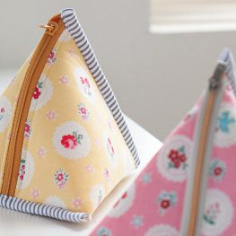 Triangle Zipper Pouch Tutorial from WeAllSew
