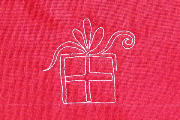 free-motion quilted pretty packages