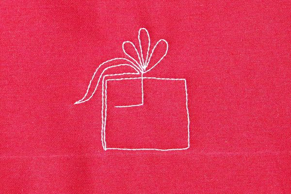 How to free-motion quilt pretty packages - step five