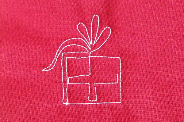 How to free-motion quilt pretty packages - step seven
