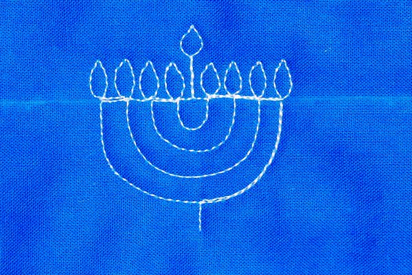 How to Free-Motion Quilt a Menorah from WeAllSew