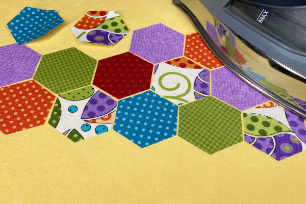 fusing the hexagons