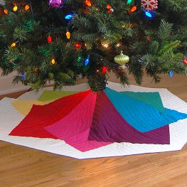 Color Tile Tree Skirt Tutorial at WeAllSew