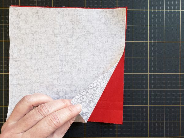 Folded Fabric Ornament Tutorial at WeAllSew