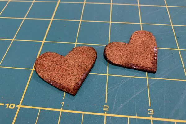 Quick and Easy Leather Gifts Corner Bookmark Gluing