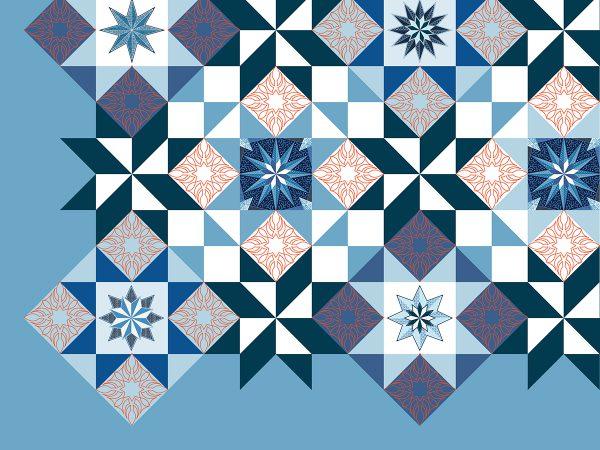 Stardust Quilt-along: digitized block designs