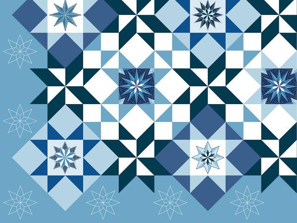 Stardust Quilt-along: plopping design