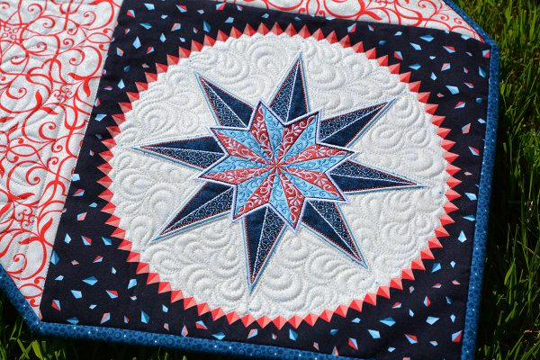 Stardust Quilt-along: large Celestial Lights embroidery