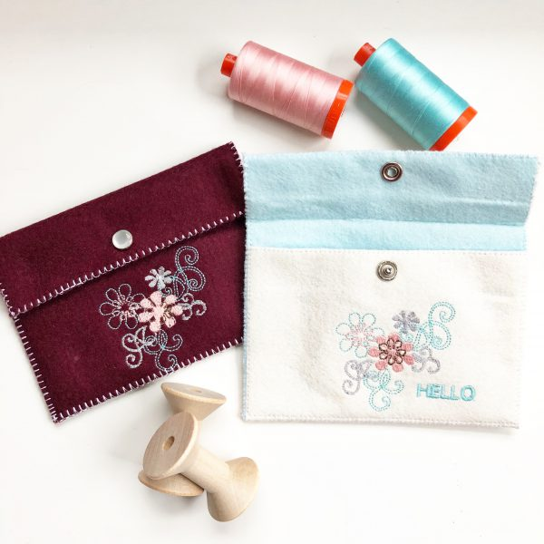 Embroidered Felt Pouch Finish Project 1