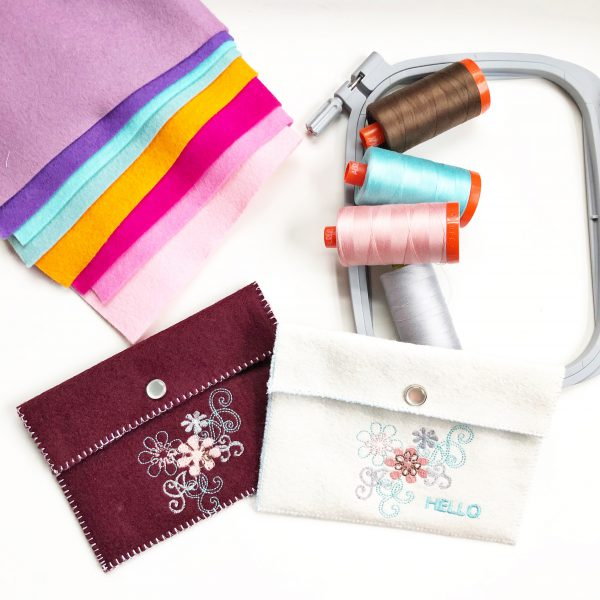 Embroidered Felt Pouch: Materials