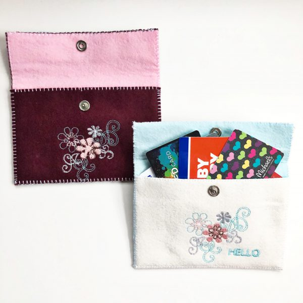 Embroidered Felt Pouch: Finished Project 2
