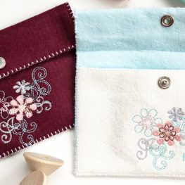 Embroidered Felt Pouches from WeAllSew