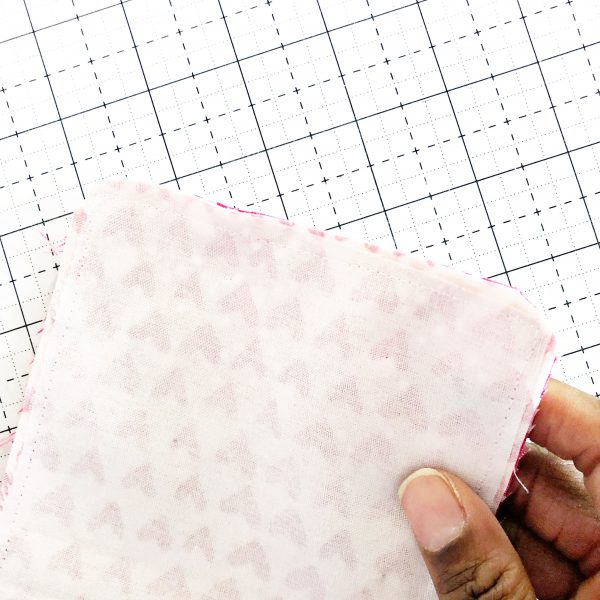 Fabric Envelope Tutorial: Ironing and Cutting
