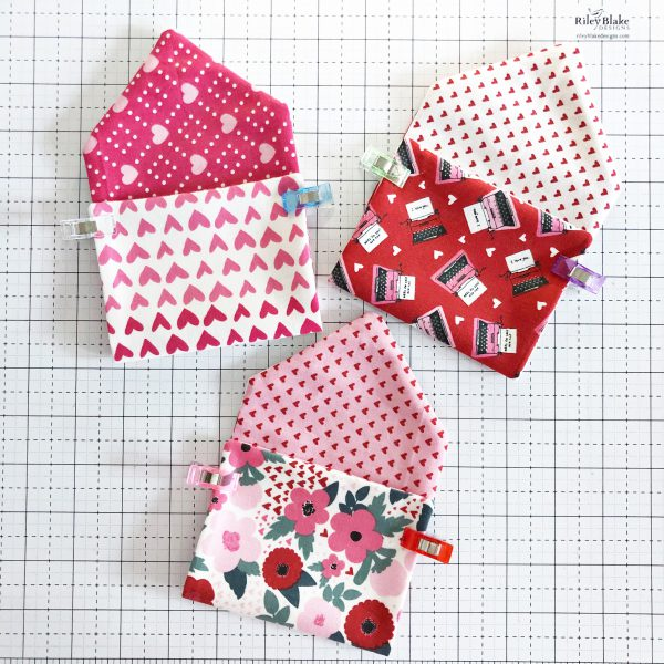 Fabric Envelope Tutorial: Edge-stitching