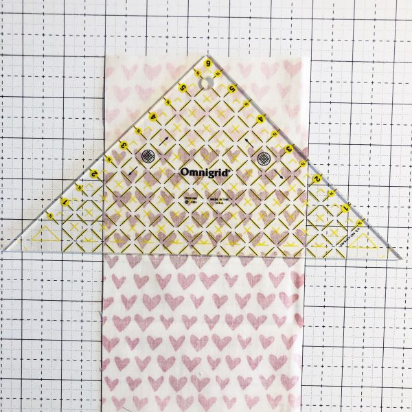 Fabric Envelope Tutorial: Prepare the fabric for sewing