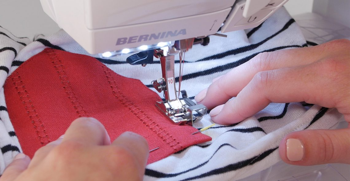 How to add a hemstitched pocket to a T-shirt