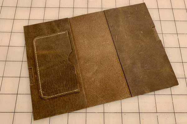 Leather Field Notes Cover Glue Up 3