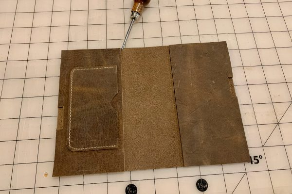 Leather Field Notes Cover Glue Up