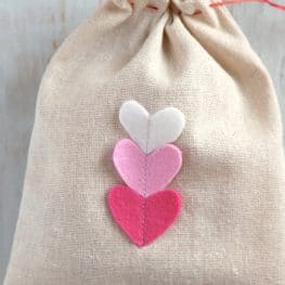 Valentines Day Goodie Bag tutorial from WeAllSew