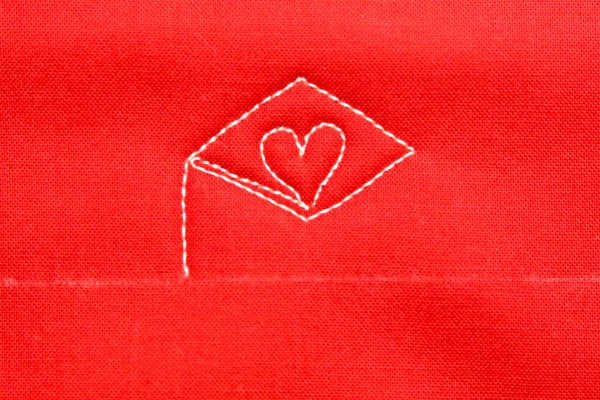How to free-motion quilt a love letter: step twelve