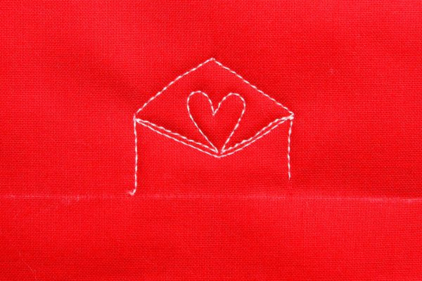How to free-motion quilt a love letter: step thirteen