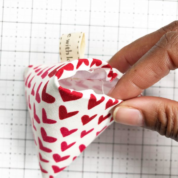 Fabric Weight Tutorial: Trim and turn the fabric