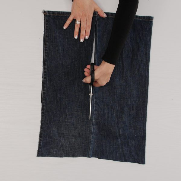 Jeans_to_Skirt_Cut_Fabric_Wedge