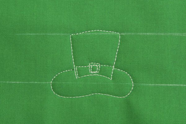 Free-Motion Quilting Paddy's Hat at WeAllSew