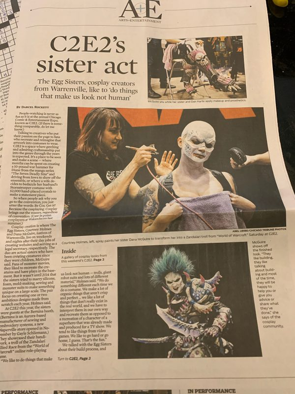 Egg Sisters in Chicago Tribune