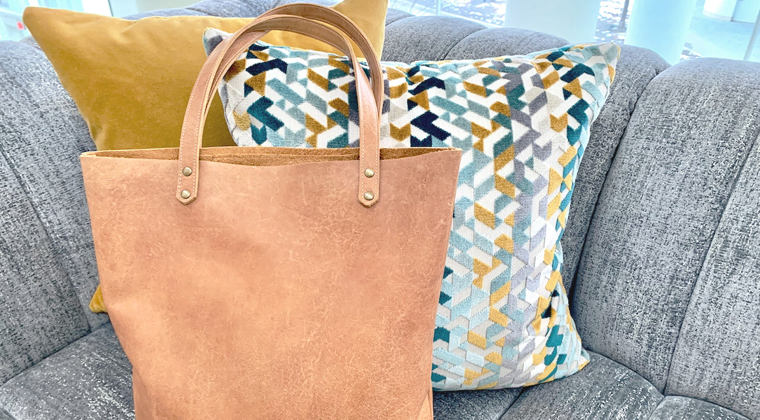 Leather Tote Tutorial from WeAllSew