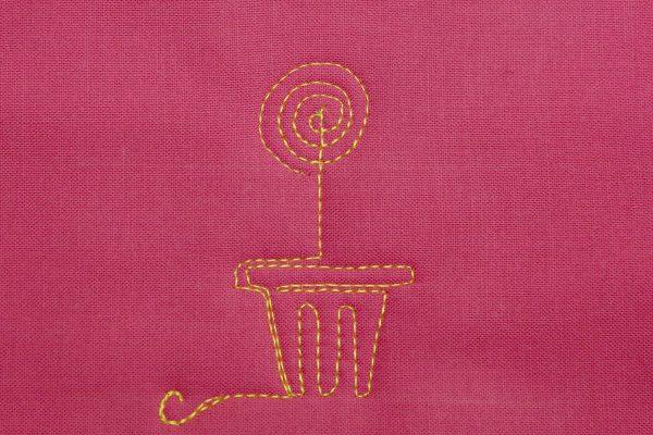 Free-motion Quilt Lollipop Flowers - Step 5