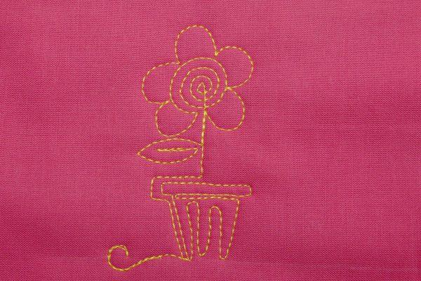 Free-motion Quilt Lollipop Flowers - Step 7