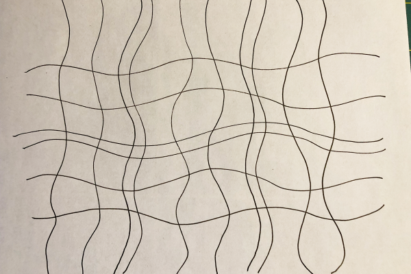 Free-Motion_Quilted_Placemats_Wavy_Lines_Drawn