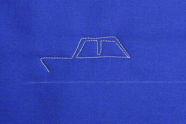 How to free-motion quilt vintage cars, step four