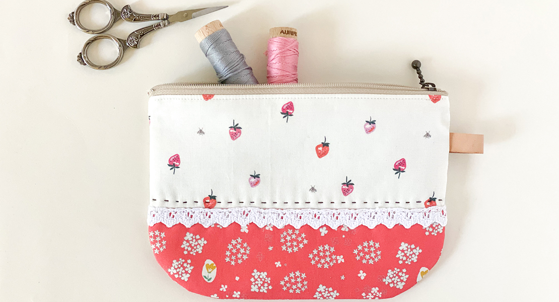 Round Zipper Pouch Tutorial and pattern